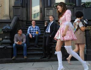 """Marshall, Ted, and Barney enjoying the day of Halloween traditional """"Walk of Shame"""" in How I Met Your Mother"""