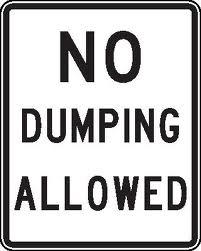 No Dumping Allowed